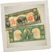 vintage US paper money