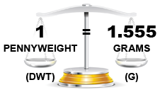gold weight pennyweight to grams