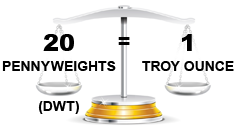 pennyweights to troy ounce conversion